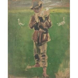 Wlastimil HOFMAN (1881-1970), Parobek - szkice - praca dwustronna