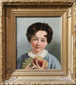 Malarz nieokreślony, XIX w., Dziecko z owocami
