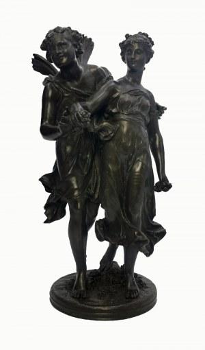 Mathurin MOREAU (1834-1917), Amor i dziewczyna