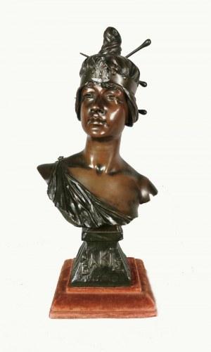 """Georges Charles COUDRAY (1862-1932), """"Bakie""""- popiersie kobiece"""