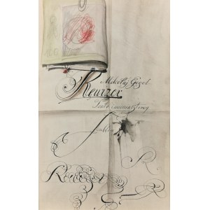 Franciszek STAROWIEYSKI (1930-2009), Projekt plakatu do sztuki Mikołaja Gogola Rewizor dla Teatru im. Osterwy w Lublinie