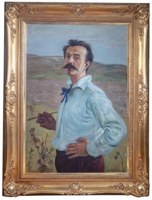 Wlastimil Hofman (1881 Praga - 1970 Szklarska Poręba), Autoportret, 1920 r.
