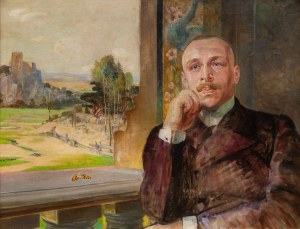 Jacek Malczewski (1854 Radom - 1929 Kraków), Portret Stefana Zborowskiego na tle ruin zamku, ok. 1912 r.