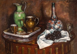 Roman Kramsztyk (1885 Warszawa-1942 tamże), Martwa natura, [Martwa natura z winogronami], ok. 1912