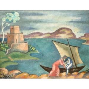 Eugeniusz Zak (1884 Mogilno – 1926 Paryż), Idylla rybacka - zaproszenie do łodzi, 1914 r.