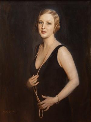 Tadeusz Styka (1889 Kielce-1954 Nowy Jork), Dama z perłami