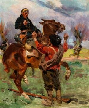 Wojciech Kossak (1856 Paryż - 1942 Kraków), Epizod z wojny bolszewickiej, 1922 r.