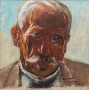 Wlastimil Hofman (1881 Praga - 1970 Szklarska Poręba), Portret mężczyzny, 1914 r.