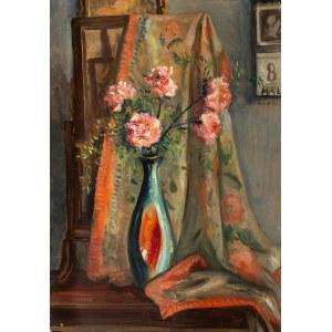 Irena Weiss zw. Aneri (1888 Łódź - 1981 Kraków), Goździki w wazonie, ok. 1950