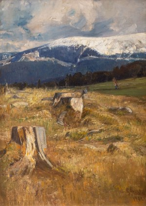 Gertrud Staats (1859-1938), Pejzaż górski, 1902 r.