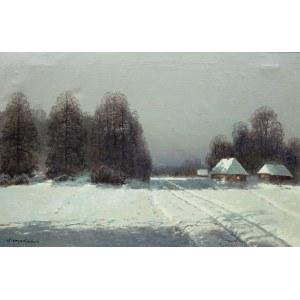 Wiktor Korecki (1890 Kamieniec Podolski - 1980 Milanówek k. Warszawy), Pejzaż zimowy
