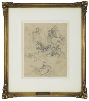 Matejko Jan, SZKIC WIELOPOSTACIOWEJ KOMPOZYCJI, 1868