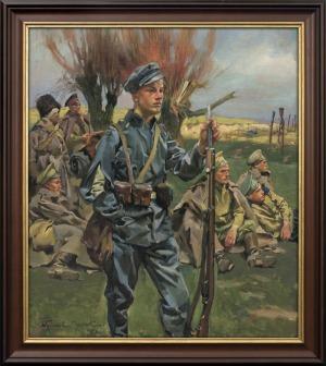 Kossak Wojciech, WNUK TYCH SPOD GROCHOWA I STOCZKA, 1916
