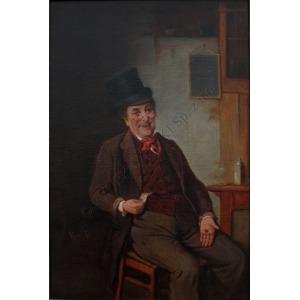 Hermann Kern (1838-1912), Mężczyzna przy stole