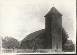 KSIĘŻY LASEK (pow. szczycieński). Drewniany kościół (rozebrany w 1928 r.)