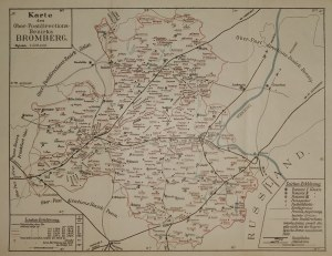BYDGOSZCZ. Mapa bydgoskiego okręgu pocztowego
