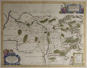 GRODKÓW, NYSA. Mapa Księstwa Grodkowskiego i biskupstwa nyskiego