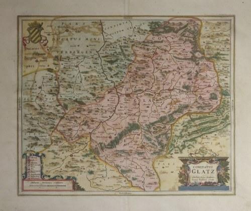 KŁODZKO. Mapa hrabstwa kłodzkiego