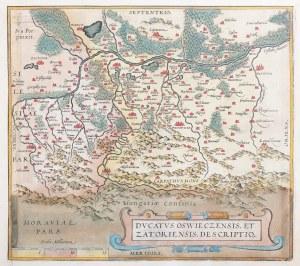 OŚWIĘCIM, ZATOR. Mapa Księstwa Oświęcimsko-Zatorskiego