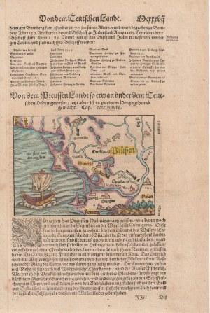 POMORZE, PRUSY. Mapa Pomorza i Prus