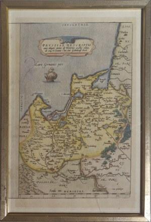 PRUSY. Mapa Prus autorstwa Heinricha Zella, Antwerpia, ok. 1580