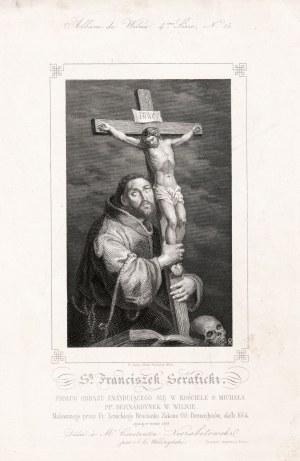 WILNO. Zestaw 2 cz.-b. stal. przedstawiających: 1) ołtarz św. Kazimierza w katedrze wileńskiej...
