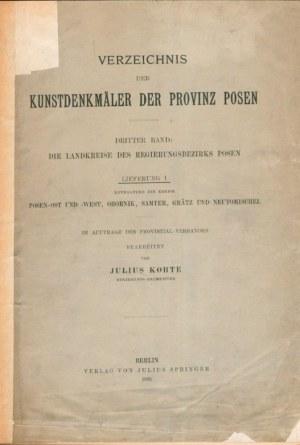 WIELKOPOLSKA. Kohte, Julius (oprac.), Die Landekreise des Regierungsbezirks Posen, tom...