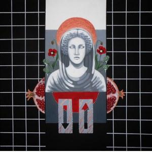 Agnieszka Giera, Persefona, 2017r, akryl na płótnie, 50 x 50cm, sygn na odwrociu