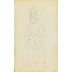 Jacek Malczewski (1854-1929), Dama na spacerze z parasolką ukazana tyłem
