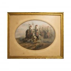 A.A. Aillaud (1822 - 1869), Jeźdźcy Polskiej Gwardii Napoleona