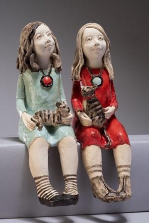 Jadwiga Lewandowska, Para dziewczynek z kotami