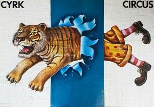 Rafał Olbiński, Cyrk - skaczący lew z nogami klauna, 1980