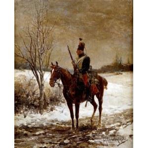 Jan CHEŁMIŃSKI (1851 Brzustów - 1925 Nowy Jork), Huzar napoleoński, między 1888 a 1899
