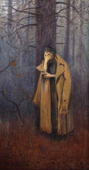 Stanisław Ignacy Poraj FABIJAŃSKI (1865 Paryż - 1947 Kraków), Melancholia, 1929