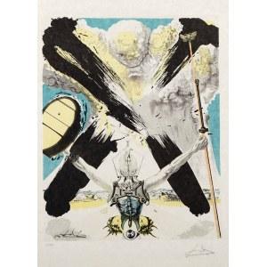 Salvador DALÍ (1904 Figueras, Hiszpania - 1989 Figueras, Hiszpania), Era atomowa, z cyklu: Historia Don Kichota z La Manchy