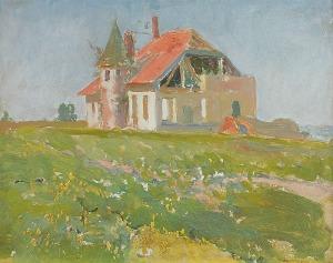 Iwan TRUSZ (1869-1940), Pejzaż z domem