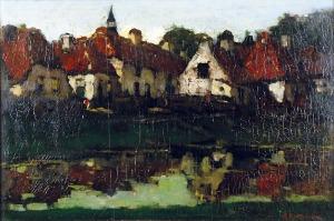 Herman Johannes ANSINGH (1880-1957), Miasteczko nad rzeką