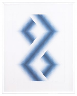 Babe Shapiro (1937-2016), BLUE HEXAGONS, 1971 r.