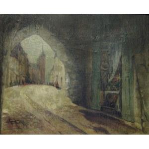 Jan (Dubczak) Rubczak (1884 - 1942), WIDOK Z BRAMY FLORIAŃSKIEJ W KRAKOWIE