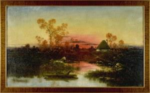 Karol Heimroth (1860-1930), Pejzaż przedwieczorny, ok. 1900