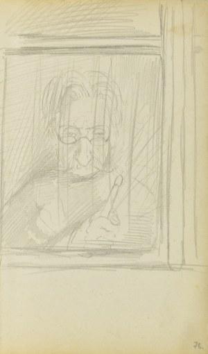 Jacek Malczewski (1854-1929), Postać sędziwego mężczyzny w oknie