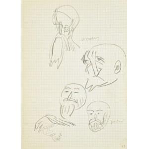 Jerzy Panek (1918-2001), Szkice z dawnego malarstwa - głowy