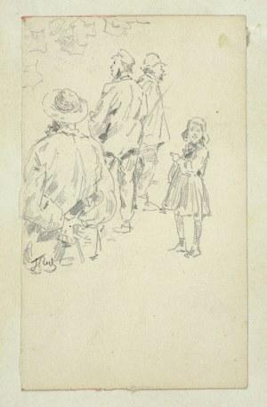 Tadeusz Rybkowski (1848-1926), Studium postaci w plenerze