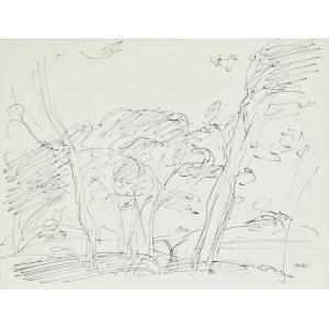 Wojciech Weiss (1875-1950), Pejzaż z drzewami