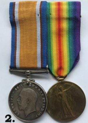 Brytyjska para medalowa I Wojna Światowa