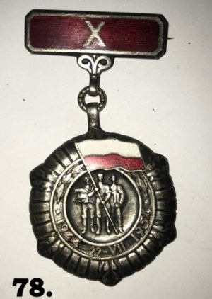 Medal 10-lecia Polski Ludowej.