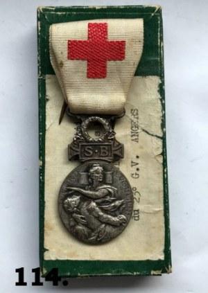 Francuski Medal Wojskowy Służba Czerwonego Krzyża 1864 - 66 .
