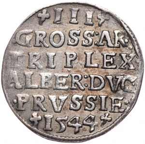 Prusy Książęce, Albrecht Hohenzollern, trojak 1544, Królewiec
