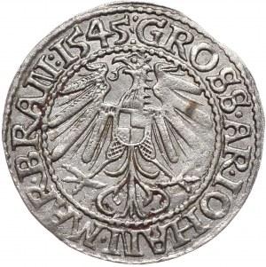 Śląsk, Jan Kostrzyński, grosz 1545, Krosno