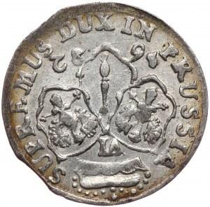 Prusy Księstwo, Fryderyk Wilhelm, szóstak 1682, Królewiec, odwrotka